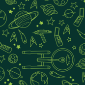 To Boldly Go (color) – Star Trek TOS Pattern