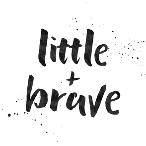 Little + Brave - Typography Blanket Monochrome