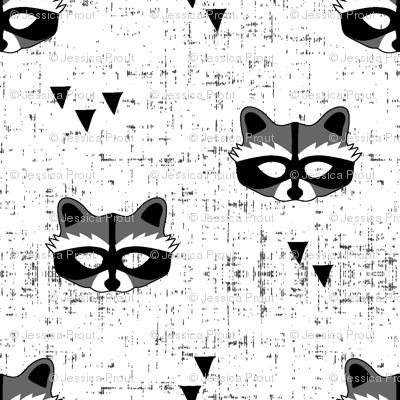 raccoon mask || white wallpaper - littlearrowdesign