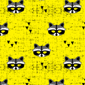 raccoon mask || yellow