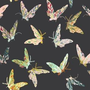 Enchanted butterflies (charcoal)