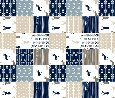 Rustic Woods Collection Patchwork Wholecloth (90) fabric by littlearrowdesign on Spoonflower - custom fabric