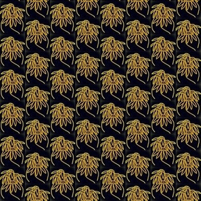 Golden Midnight Coneflowers