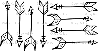 Arrows // Black and white outline