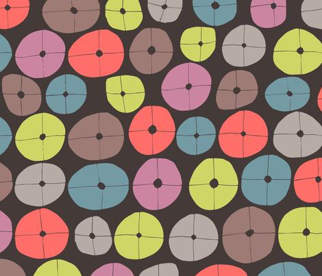 Organic Abstract Circles fabric by zoe_ingram on Spoonflower - custom fabric