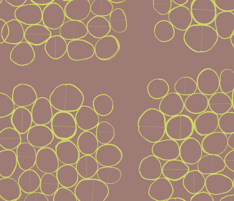 Organic Abstract Lime & Brown fabric by zoe_ingram on Spoonflower - custom fabric