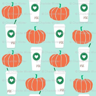 pumpkins autumn fall pumpkin spice latte fabric, autumn girls pumpkin spice, coffee, psl, pumpkin spice latte, latte, autumn, fall