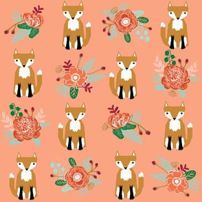 autumn fox flowers cream autumn fall girls sweet woodland fox