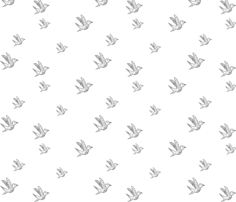 BABY_BIRD_REPEAT-01 fabric by abemus on Spoonflower - custom fabric