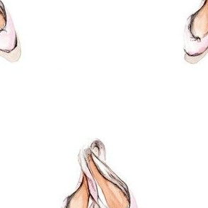 Ballerina shoes watercolor illustration print