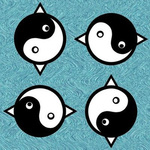 Cat Fish Bird Yin Yang
