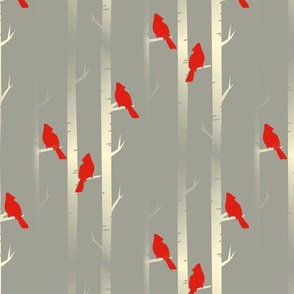 birds on birch trees