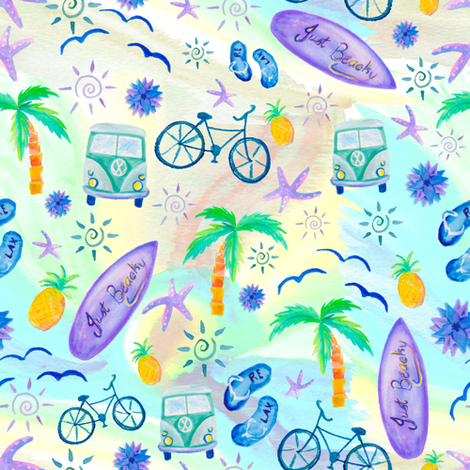 Just Beachy fabric by gingerlique on Spoonflower - custom fabric