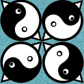 Cat Fish Bird Yin Yang 2