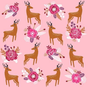 deer woodland fall autumn cute fawn woodland flowers