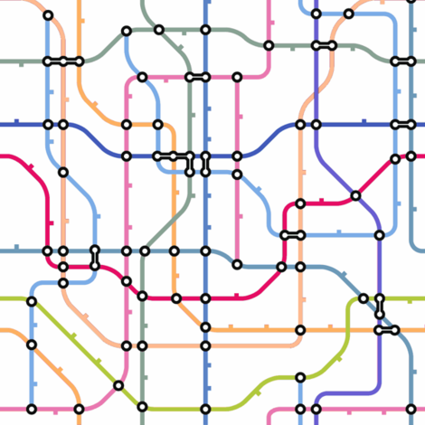 Subway Map wallpaper - trizzuto - Spoonflower
