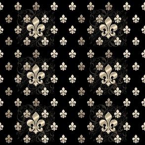 Fleur De Lys-Black & Gold