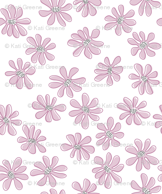 Gerberas in Old Rose - Small Florals in Light Rose