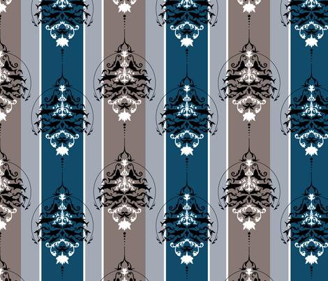 Shark Deco fabric by onegreyelephant on Spoonflower - custom fabric