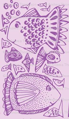 Fishy in violet