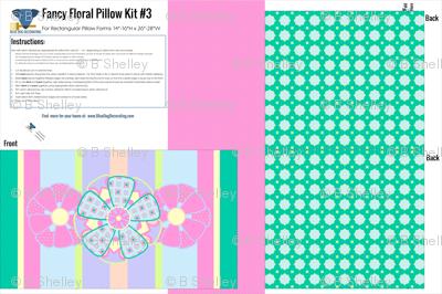 Fancy Floral Pillow Kit in Stripe