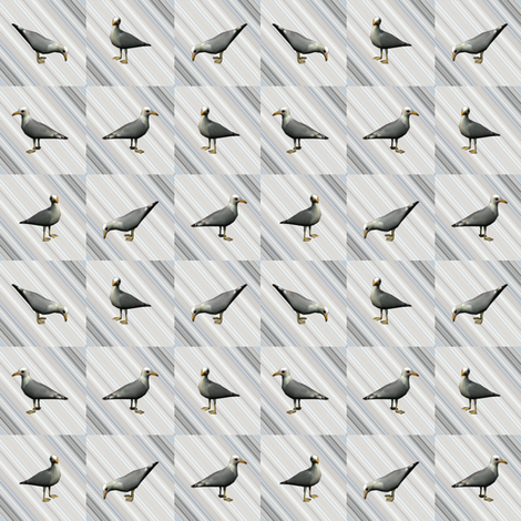 Seagulls on Gray  fabric by gingezel on Spoonflower - custom fabric