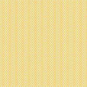 Sunny Yellow and White Sinus Rings