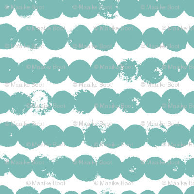 Circles and rows cool Scandinavian style dots brush strings soft water blue M