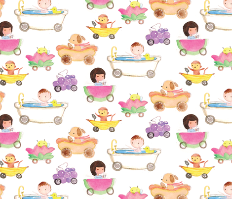Zoom Zoom! Fruity Fun Cars fabric by ceciliamok on Spoonflower - custom fabric