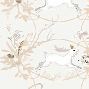 Bunny Prince Damask (china white)