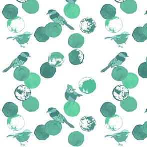 Birds & Dots Aqua