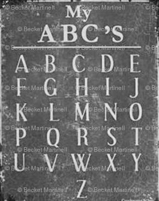 Old  School Chalkboard  ABC's
