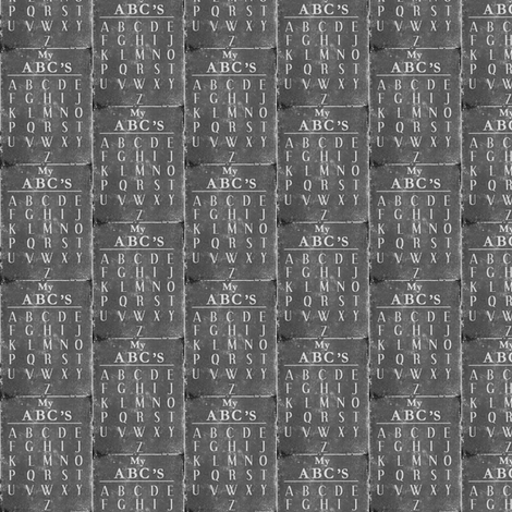 Old  School Chalkboard  ABC's fabric by sewindigo on Spoonflower - custom fabric