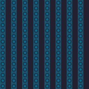 Little Stripes and Dots (Deep Indigo)