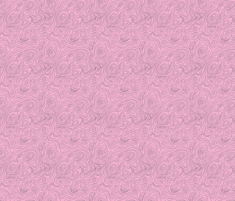 Topography- Pink fabric by mintgreensewingmachine on Spoonflower - custom fabric