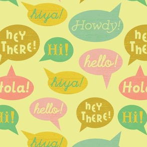 Speech Bubbles- Yellow