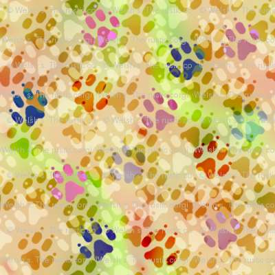 Cosmic dog paw prints day fabric rusticcorgi spoonflower for Cosmic print fabric