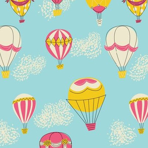 Hot Air Balloons- Red