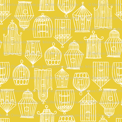 Bird Cages- Yellow