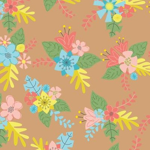 Flower Bunches- Tan