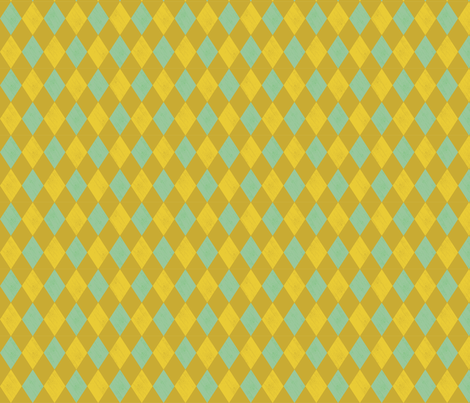Harlequin- Mustard fabric by mintgreensewingmachine on Spoonflower - custom fabric
