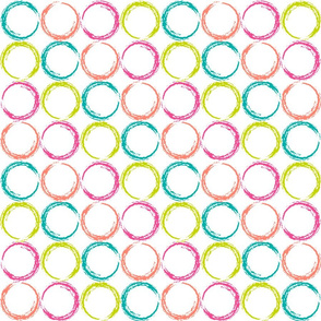 Circles with stripe pattern in tropical color