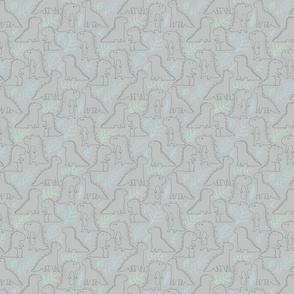dino doodle pattern