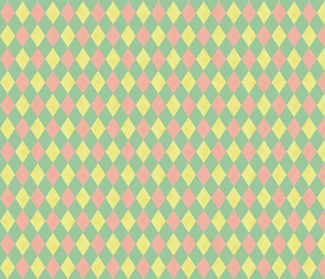 Harlequin- Mint fabric by mintgreensewingmachine on Spoonflower - custom fabric