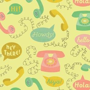 Telephones- Yellow