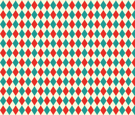 Harlequin- White fabric by mintgreensewingmachine on Spoonflower - custom fabric