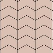Arrows zigzags geometric blush