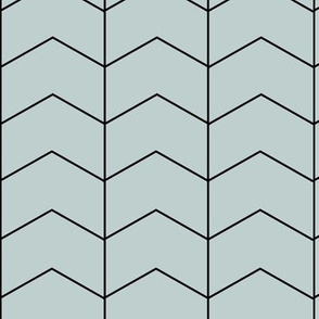 Arrows - sea foam blue green zigzags geometric || by sunny afternoon