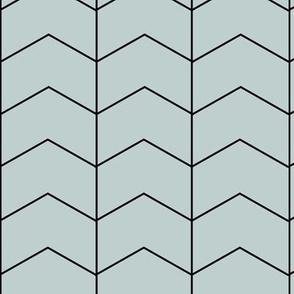 Arrows - sea foam blue green zigzags geometric    by sunny afternoon