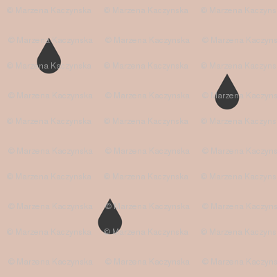 raindrops - graphite on blush    by sunny afternoon